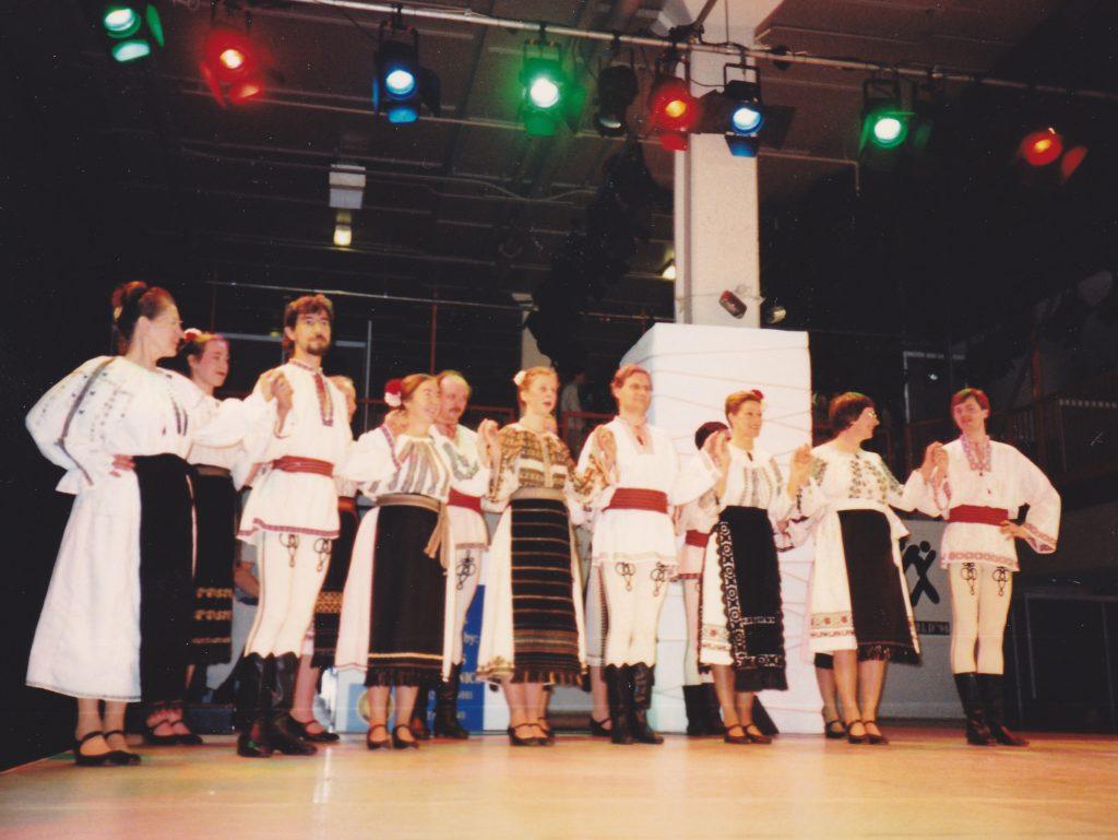 Romanian dance group in London 1994